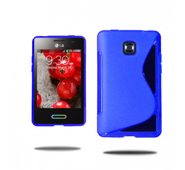 HOUSSE ETUI COQUE SILICONE ★ LG OPTIMUS L3 2 II E425 E430 ★ TPU S-LINE WAVE CASE