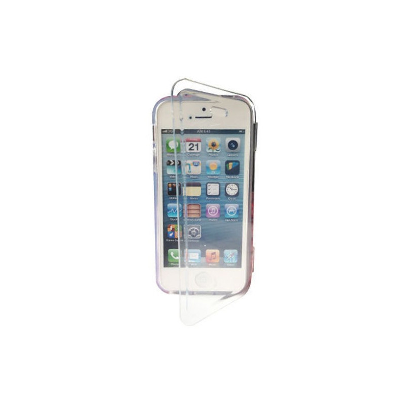 HOUSSE ETUI COQUE PROTECTION SILICONE ★★ IPHONE 4 4S 5 5S ★★ GEL A CLAPET FLIP