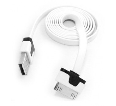 ★ HAUTE QUALITE ★ 3M CABLE USB BLANC PLAT CHARGE + SYNCHRO ★ IPAD 1 2 3 NEW FLAT