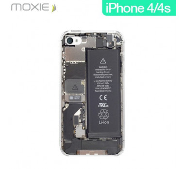 HOUSSE COQUE ETUI ★ MOXIE BATTERIE TRANSPARENTE ★ IPHONE 4S 5 5C 5S 6  ★ CRYSTAL
