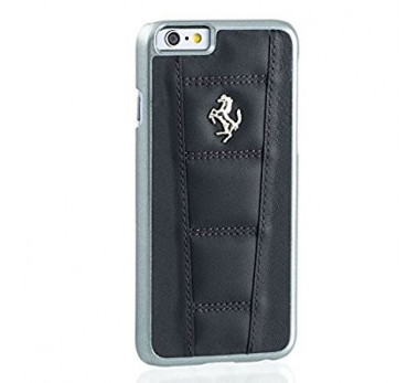 COQUE ARRIERE ★ FERRARI OFFICIEL ★ IPHONE 6 6S ★ NOIR CUIR VERITABLE ORIGINAL