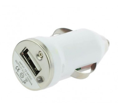 CHARGEUR VOITURE USB 1A ★ SAMSUNG APPLE LG WIKO NOKIA...★ ALLUME CIGARE BLANC