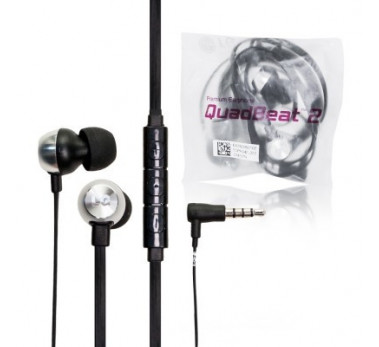 KIT PETION ECOUTEURS LG ORIGINAL ★ QUAD BEATS 2 ★ EAR PLUGS BLACK