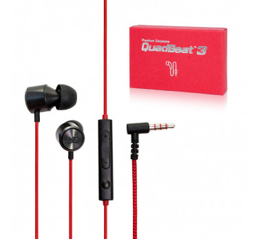 KIT PETION ECOUTEURS LG ORIGINAL ★ QUAD BEATS 3 ★ EAR PLUGS RED