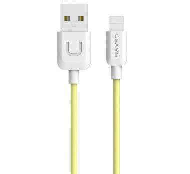 CABLE USB LIGHTNING USAMS U-TURN SERIES US-SJ097 JAUNE YELLOW pour IPHONE 6 7 8