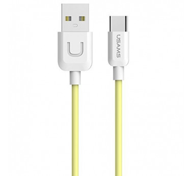 CABLE USB TYPE C USAMS U-TURN SERIES US-SJ099 JAUNE YELLOW