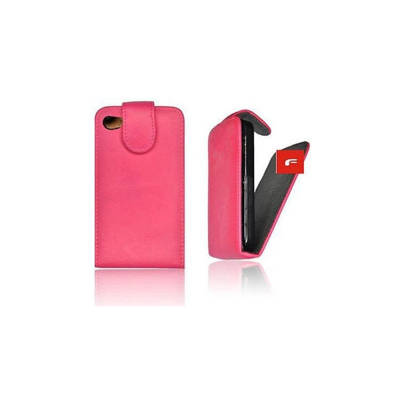 HOUSSE EETUI COQUE ★ SIMILI CUIR ROSE ★★ IPHONE 5 5S 5SE ★ FLAP CLAPET FINITION