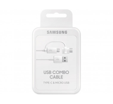 CABLE USB COMBO 2 en 1 MICRO USB & TYPE-C SAMSUNG ORIGINAL  1M20 -  BLISTER