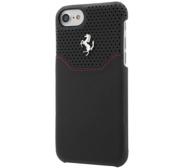 COQUE ARRIERE ★ FERRARI OFFICIEL ★ IPHONE 7 ★ NOIR CUIR VERITABLE ORIGINAL