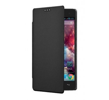 HOUSSE ETUI ★ FOLIO COVER SWISS CHARGER ★ WIKO HIGHWAY ★ CUIR PU FLIP CASE NOIR