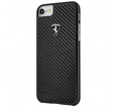 HOUSSE COQUE ARRIERE ★ FERRARI ORIGINAL ★ IPHONE 6 6S 7 8 ★ NOIR CARBONE