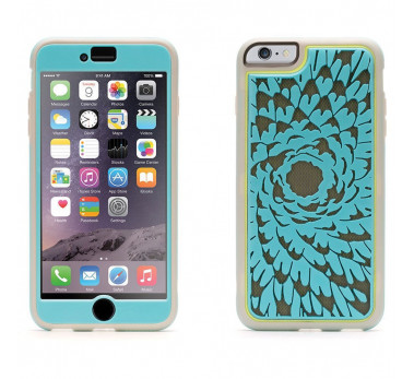HOUSSE COQUE ★IPHONE 6 PLUS 6S PLUS GRIFFIN FLOWER TURQUOISE ★ FILM PROTECTION ECRAN INCLUS